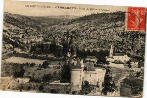CPA Le Lot Illustre - CABRERETS - Vallée du Cele et le Chateau (223334)