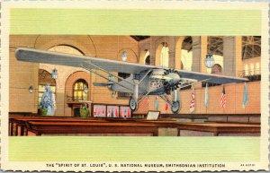 Vtg Spirit Of St Louis US National Museum Smithsonian Institution DC Postcard