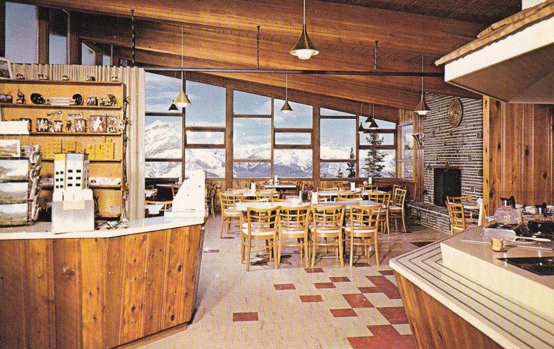 BANFF, Alberta, Canada, 1940-1960s; Summit Tea House Atop Sulphur Mountain, I...