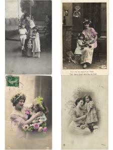 MOTHER AND CHILD FEMALE + CHILD MÈRE ET DE L'ENFANT GLAMOUR 191 REAL PHOTO CPA