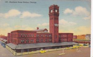 Illinois Chicago Dearborn Street Station 1943 Curteich