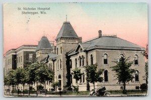 Sheboygan Wisconsin~Vintage Auto at St Nicholas Hospital~2nd Empire~1909 PC