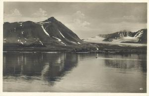 norway norge, SPITSBERGEN SVALBARD, Kings Bay, Kongsfjord (1930s) RPPC Postcard