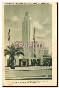 Old Postcard International Colonial Exposition Paris 1931 Palace of the metro...