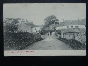 North Yorkshire HORTON IN RIBBLESDALE Village & New Inn - Old Postcard