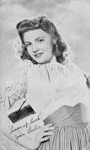 Joan Leslie American Actress Postcard