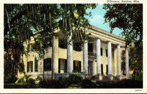 Mississippi Natchez D'Evereux Built 1840 Curteich