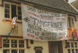 Diss Football Club Norfolk vs Taunton Somerset FA Vase White Horse Pub Postcard