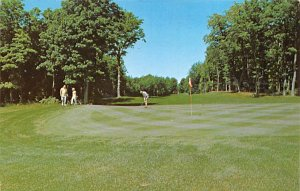 Golf Postcard Sugar Loaf's third hole Cedar, Michigan, USA Unused