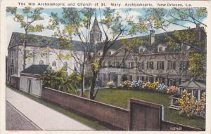 NEW ORLEANS, Louisiana, 1900-1910's; The Old Archbishopric And Church Of St. ...