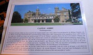England Castle Ashby Northamptonshire SC6808 Souvenir - unposted