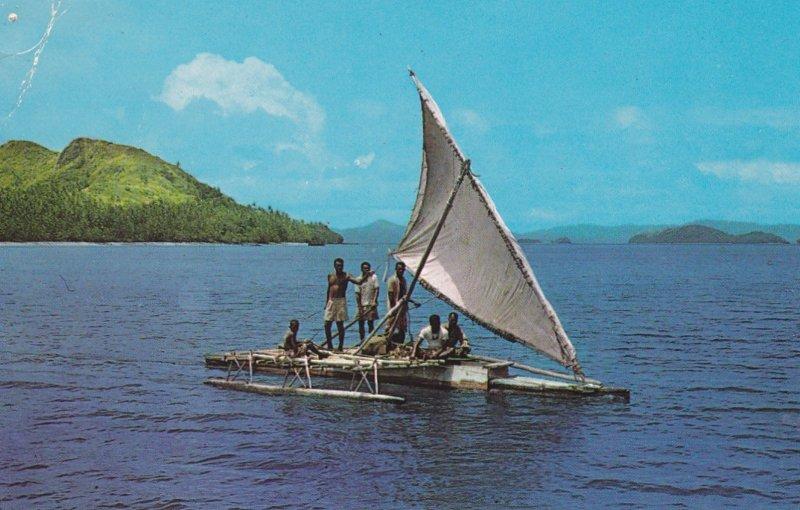 Outrigger canoe , Fiji , PU-1974