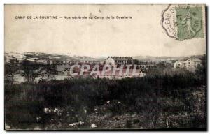 Old Postcard Camp of Courtine General view of the cavalry camp