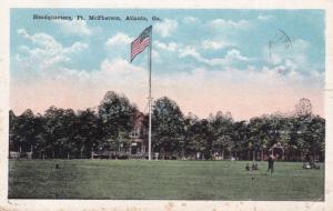 ATLANTA, Georgia, PU-1923; Headquarters, Ft. McPherson