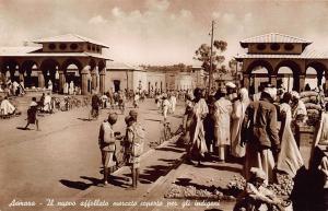 Eritrea Asmara Il Nuovo Affollato Mercato Coperto per Gli Indigeni Postcard