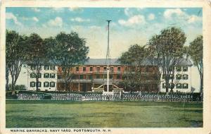 Portsmouth NH Sailors & Marines by Flag Pole @ Navy Yard~Submarine Cruise~1925