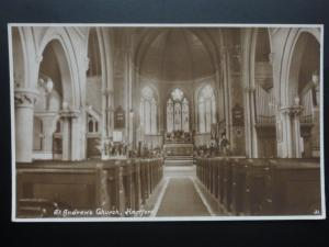 Hereford ST. ANDREW'S CHURCH Interior c1934 Old RP Postcard by Kingsway 31