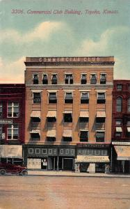 Commercial Club Building, Topeka, Kansas, Early Postcard, Unused