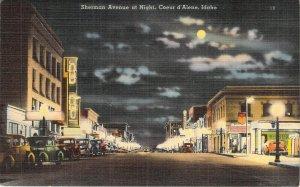 Sherman Avenue at Night, Coeur d'Alene, Idaho