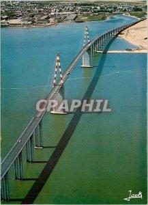 Postcard Modern on the estuary of the Loire The bridge of Saint Nazaire Saint...