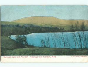 Pre-1907 NICE VIEW OF WACHUSETT LAKE AND MOUNTAIN Fitchburg MA Q2191