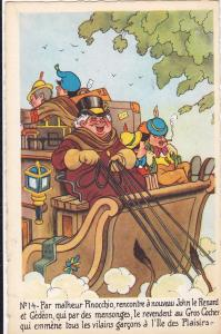 DISNEY : Pinocchio and The Coachman, 40-50´s