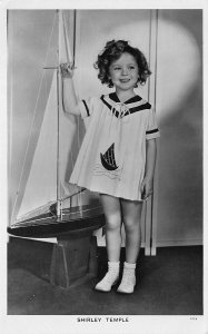 Shirley Temple With Sailboat Real Photo Postcard Pitchergoer 988.