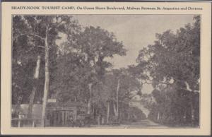 Ormond Beach - SHADY NOOK TOURIST CAMP 1940s era / TRAILER PARK - A1A / GONE