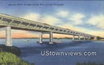Raritan River Bridge New Jersey Turnpike NJ Unused