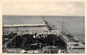 Egypt Port-Said, The Casino and Breakwater, Pier 1931