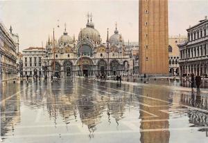 Italy Venezia Piazza S. Marco con Acqua Alta, St. Mark Square with High Tide