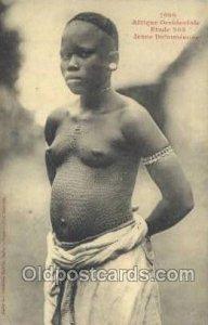 Afrique Occidentale Etude 203 Jeune Dahomeenne African Nude Unused