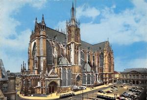 France Metz (Moselle) La Cathedrale, Cathedral, Buses, Cars, Voitures CPSM