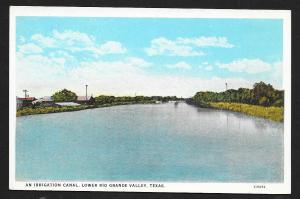 Irrigation Canal Rio Grande Valley TX unused c1920's