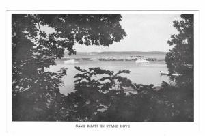 Maine Hiram Blake Camp Boats in Stand Cove Penobscot Bay Cape Rossier Postcard