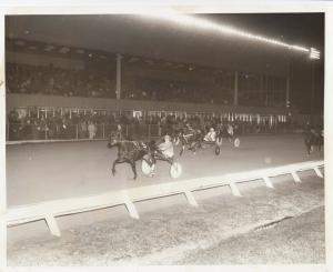 BATAVIA Harness Horse Race , LOTUS BLUE CHIP wins , 1970s