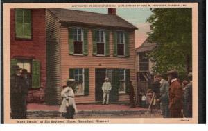 HANNIBAL, Missouri, PU-1959; Mark Twain At His Boyhood Home
