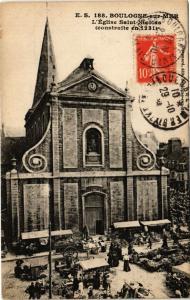 CPA BOULOGNE-sur-MER - L'Église St-Nicolas (240079)