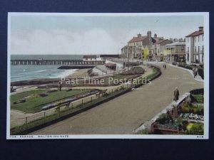 Essex WALTON ON THE NAZE The Parade & Gardener c1930's Postcard by Salmon 9118