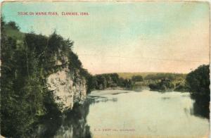 Clarence, Iowa, IA, Scene on Wapsie River, 1909 Antique Vintage Postcard e1642