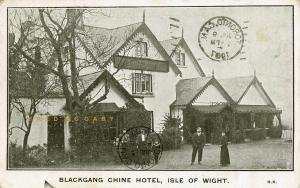 1907 Blackgang (Isle of Wight)England Postcard: Chine Hotel Exterior, Animated