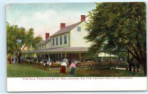 *Old Farmhouse Bellewood Lehigh Valley Railroad NJ New Jersey Postcard B55