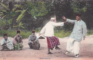Malay Dancing Singapore Old Postcard