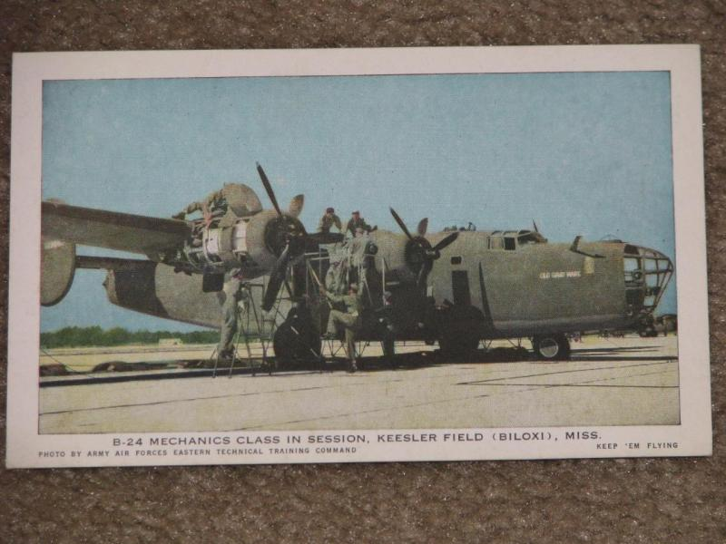 B-24 Mechanics Class in Session,, Keesler Field, Biloxi, Miss., unused