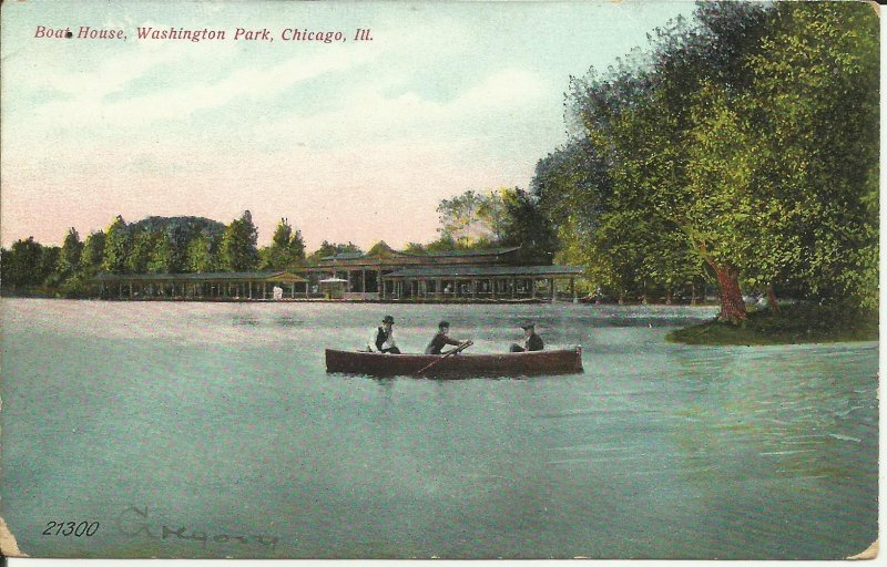 Chicago, Ill., Boat House, Washington Park