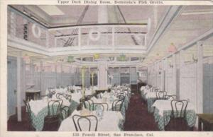 California San Francisco Upper Deck Dining Room Interior Bernstein's Fish Gro...