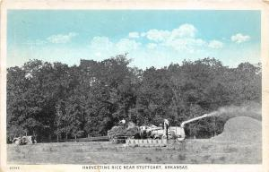 C34/ Stuttgart Arkansas AR Postcard c1920 Harvesting Rice Farming Occupational