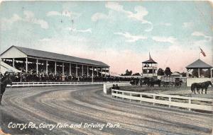 D66/ Corry Pennsylvania Pa Postcard c1910 Corry Fair Grounds Driving Park Track
