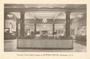 Powers Hotel - Cheerful Lobby Lounge, Rochester, New York
