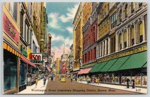 Boston~Washington Street~Sailors Window Shop Jordan Marsh Department Store~1940s